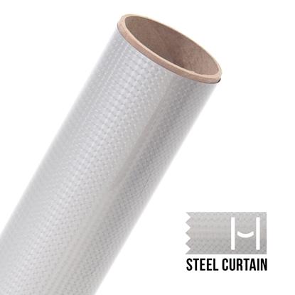Picture of Happy Face Metallic Iron On Vinyl - Steel Curtain