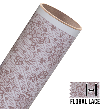 Picture of Happy Face Pattern Iron On Vinyl - Floral Lace