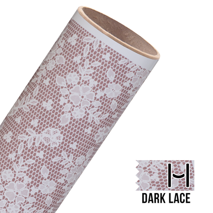 Picture of Happy Face Pattern Adhesive Vinyl - Dark Lace