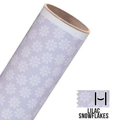 Picture of Happy Face Pattern Adhesive Vinyl - Lilac Snowflakes