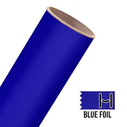Picture of Happy Face Foil Adhesive Vinyl - Blue