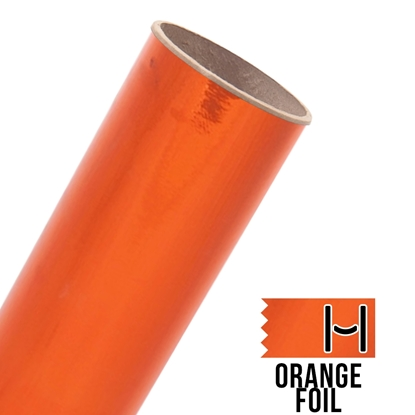 Picture of Happy Face Foil Adhesive Vinyl - Orange