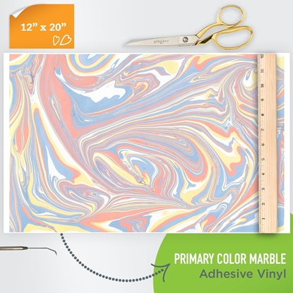 Picture of Happy Crafters Pattern Adhesive Vinyl - Primary Colour Marble