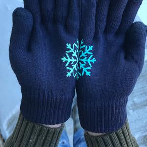 DIY Snowflake Gloves with HTV | CriCut Tutorial