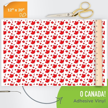Picture of Happy Face Pattern Adhesive Vinyl - O Canada!