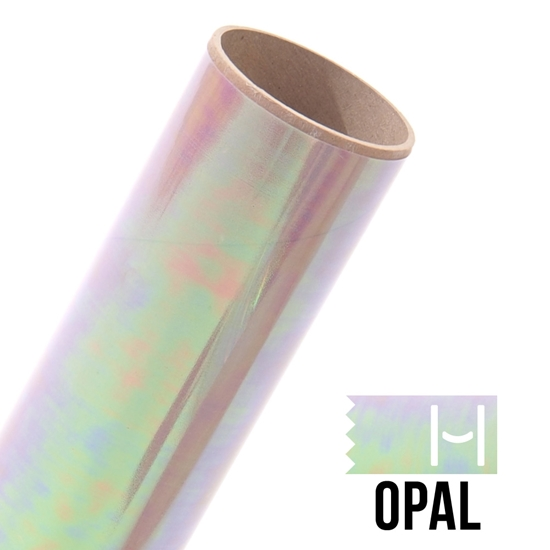 Picture of Happy Face Foil Iron On Vinyl - Opal