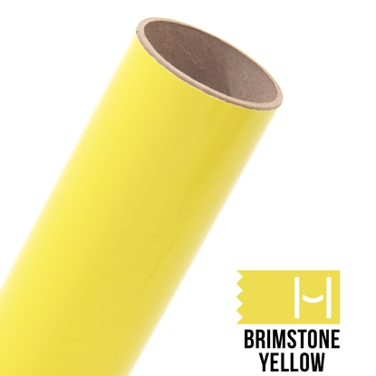Picture of Oracal 651 Glossy Adhesive Vinyl Brimstone Yellow - Small