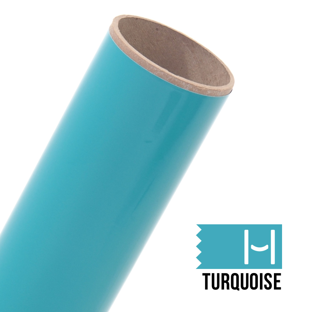Oracal 651 Glossy Adhesive Vinyl Turquoise Large Happy