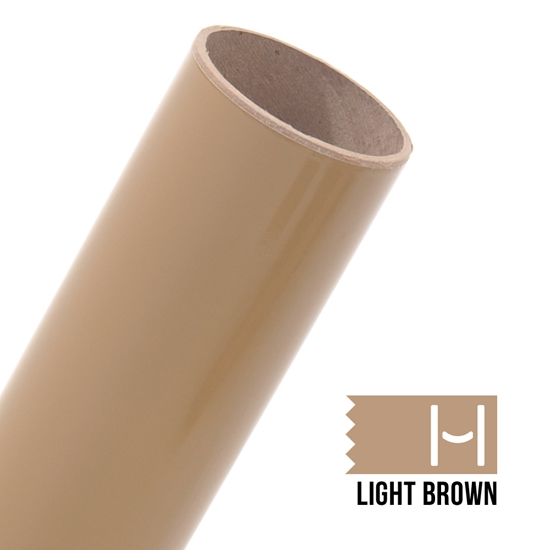 Oracal 651 Glossy Adhesive Vinyl Light Brown Large