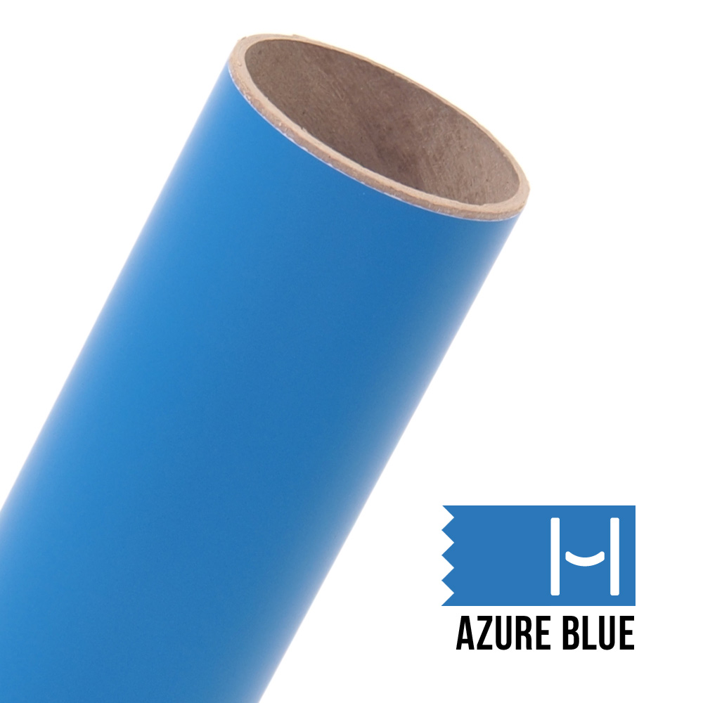 Oracal 631 Matte Adhesive Vinyl Azure Blue Large Happy