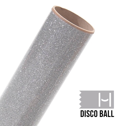 Picture of Happy Face Glitter Iron On Vinyl - Disco Ball Bling