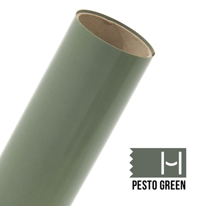 Picture of Happy Face Flock Iron On Vinyl - Pesto Green