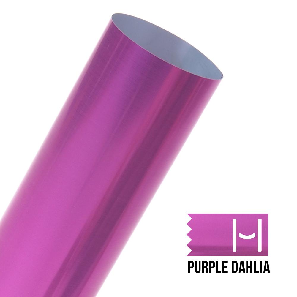 Happy Face Metallic Iron On Vinyl Purple Dahlia Shine