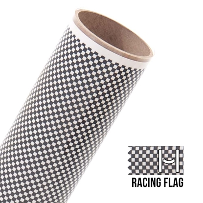 Picture of Happy Face Pattern Iron On Vinyl - Racing Flag