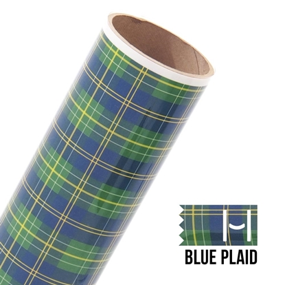 Picture of Happy Face Pattern Iron On Vinyl - Scottish Plaid