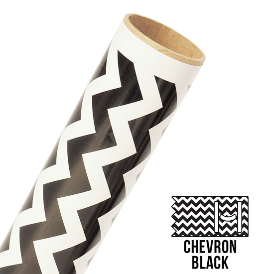 Picture of Happy Crafters Pattern Adhesive Vinyl - Large Chevron Black
