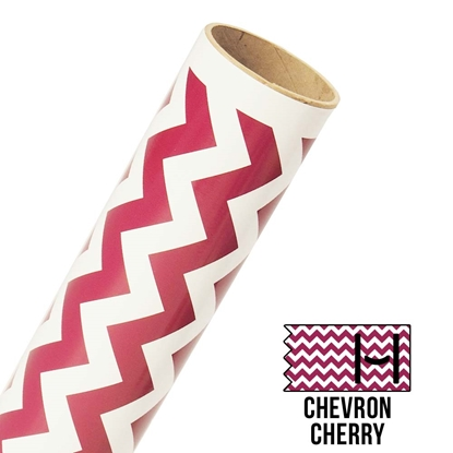 Picture of Happy Face Pattern Adhesive Vinyl - Large Chevron Cherry