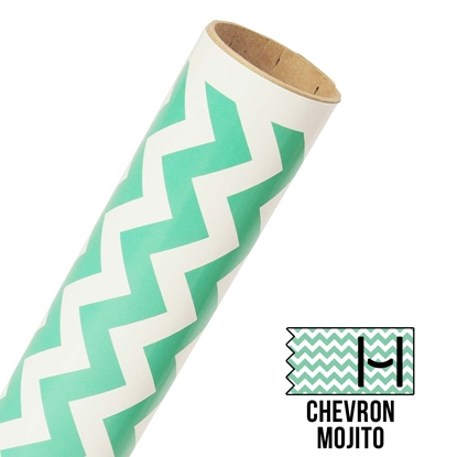 Picture of Happy Face Pattern Adhesive Vinyl - Large Chevron Mojito