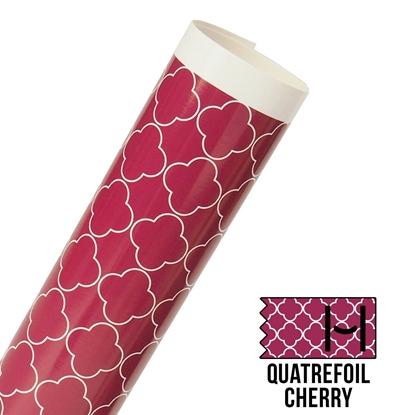 Picture of Happy Face Pattern Adhesive Vinyl - Large Quatrefoil Cherry
