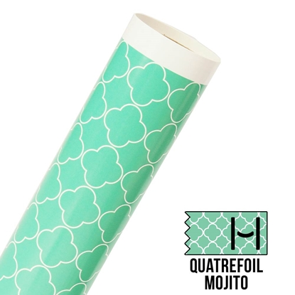 Picture of Happy Face Pattern Adhesive Vinyl - Large Quatrefoil Mojito