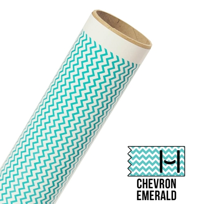 Picture of Happy Face Pattern Adhesive Vinyl - Small Chevron Emerald