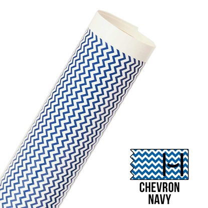 Picture of Happy Face Pattern Adhesive Vinyl - Small Chevron Navy