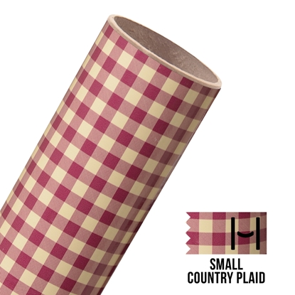 Picture of Happy Face Pattern Adhesive Vinyl - Small Country Plaid