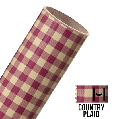 Picture of Happy Face Pattern Adhesive Vinyl - Country Plaid