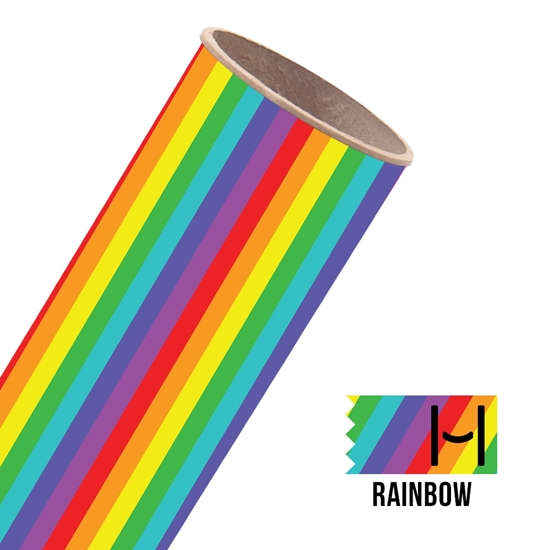Picture of Happy Face Pattern Adhesive Vinyl - Rainbow