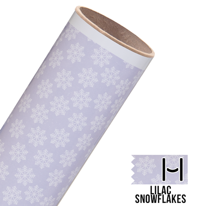 Picture of Happy Crafters Pattern Adhesive Vinyl - Lilac Snowflakes