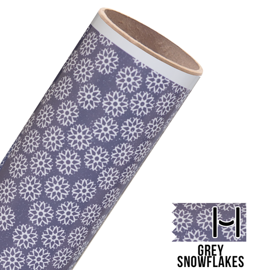 Picture of Happy Crafters Pattern Adhesive Vinyl - Grey Snowflakes