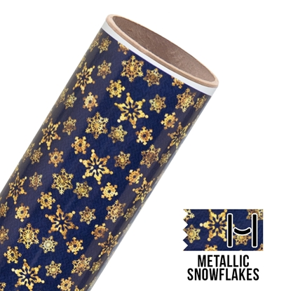 Picture of Happy Face Pattern Adhesive Vinyl - Metallic Snowflakes