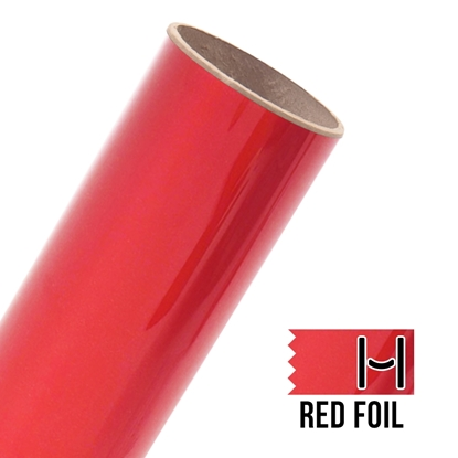 Picture of Happy Face Foil Adhesive Vinyl - Red