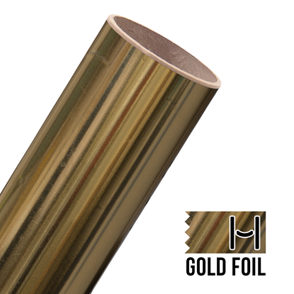 Picture of Happy Face Foil Adhesive Vinyl - Gold