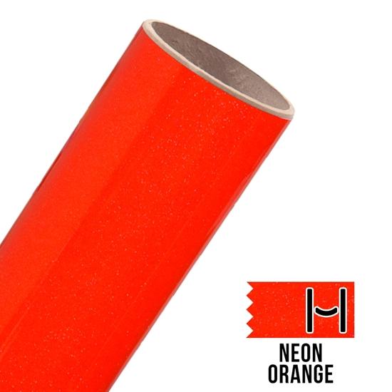 Picture of Glitter Adhesive Vinyl - Neon Orange