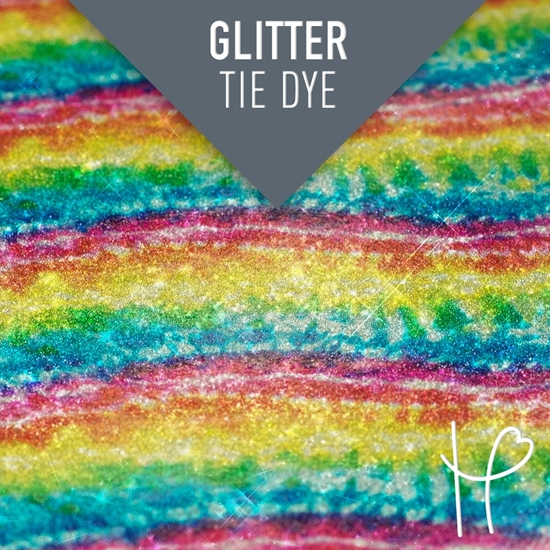 Picture of Happy Face Glitter Pattern Adhesive Vinyl - Tie Dye