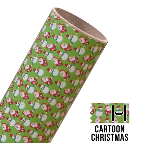 Picture of Happy Crafters Pattern Adhesive Vinyl - Christmas Cartoon