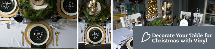 Decorating Your Table for Christmas with Vinyl
