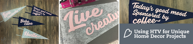 Creating Home Decor with HTV | Wool Pennants