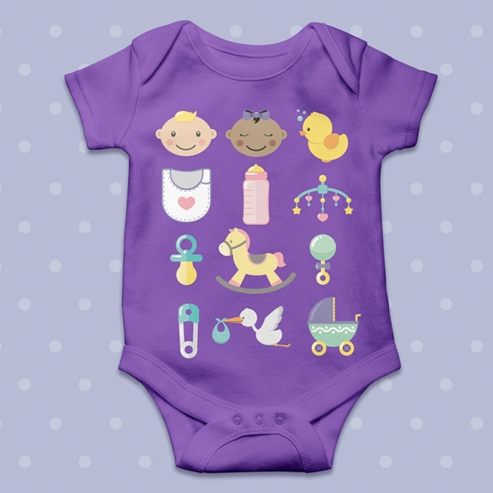 Picture of Baby Shower SVG Cut File Bundle