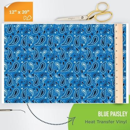 blue bandana htv pattern