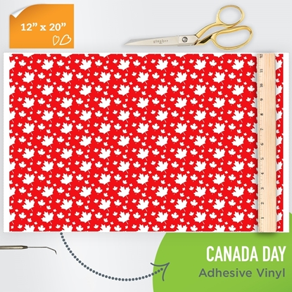 Picture of Happy Face Pattern Adhesive Vinyl - Canada Day