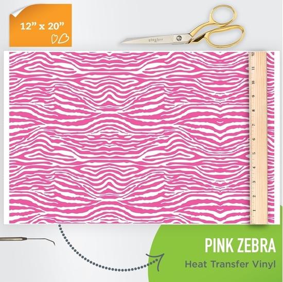 pink zebra patterned htv