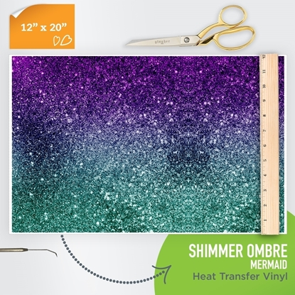Picture of Happy Crafters Pattern HTV - Shimmer Ombre - Mermaid