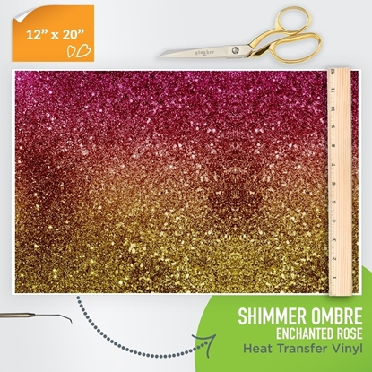 Picture of Happy Crafters Pattern HTV - Shimmer Ombre - Enchanted Rose