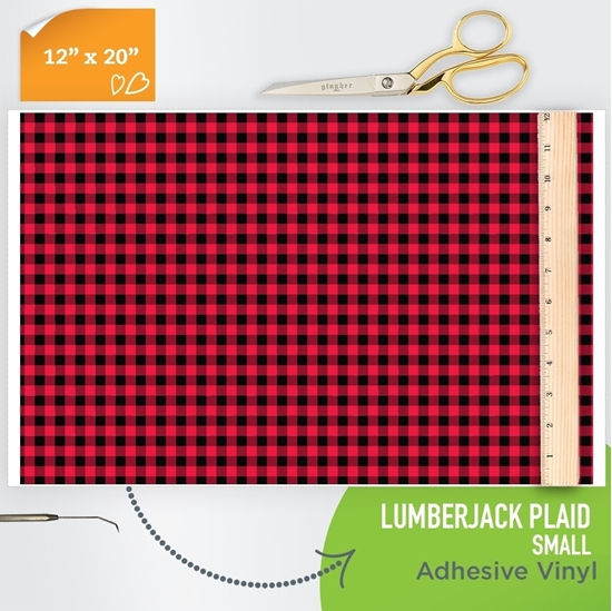 Picture of Happy Face Pattern Adhesive Vinyl - Small Lumberjack