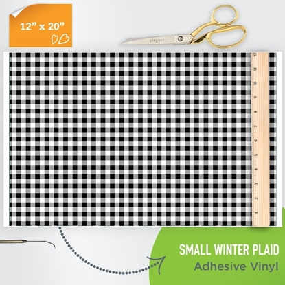 Picture of Happy Face Pattern Adhesive Vinyl - Small Winter Plaid