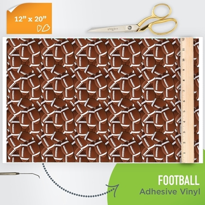 Picture of Happy Face Pattern Adhesive Vinyl - Football