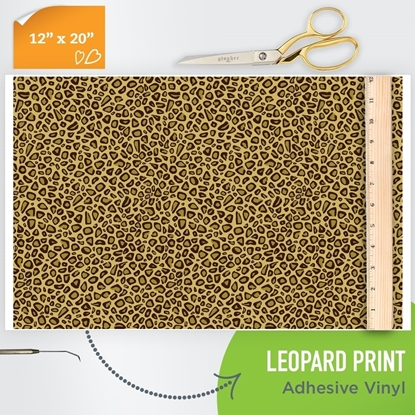 Picture of Happy Face Pattern Adhesive Vinyl - Leopard Print