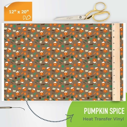 Picture of Happy Crafters Pattern HTV - Pumpkin Spice